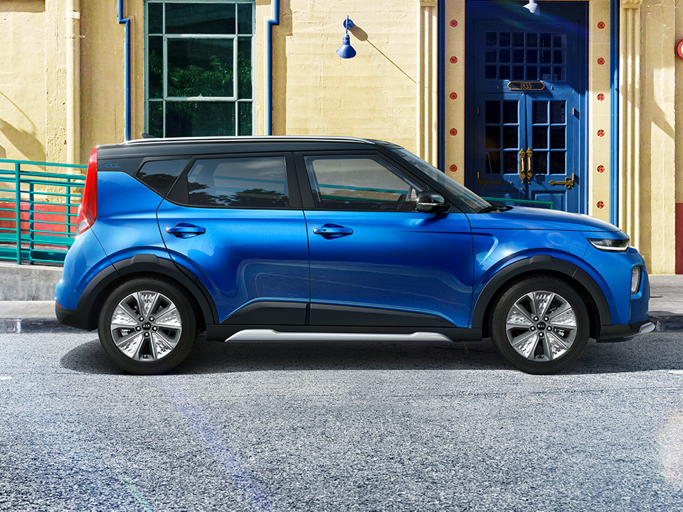 Kia e-Soul on the road